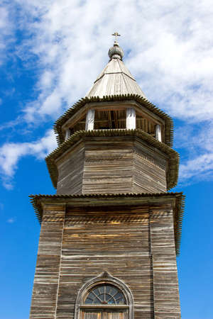 church steeple: Bell tower of Church of the Transfiguration Stock Photo
