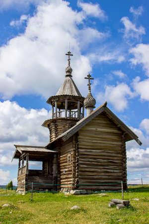 onega: Wooden chapel on Kizhi island