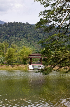 chinese style gazeboo at Taiping Lake Garden with tree branch in front Stock Photo - 10951400