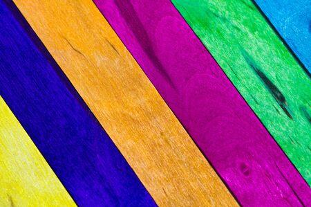slanting multicolored wood background photo