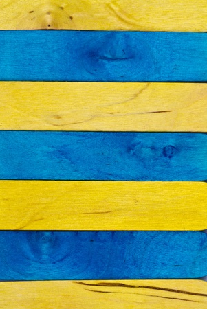 blue and yellow wood in portrait orientation Stock Photo - 11233900