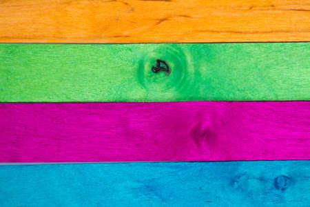 horizontal arrangement of multicolor wood in landscape orientation photo
