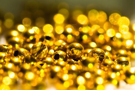 golden beads abstract background II photo