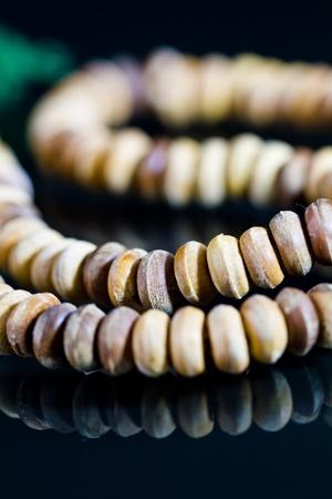 wooden praying beads photo