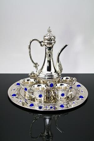 Silver set on a mirror II Stock Photo - 11496138