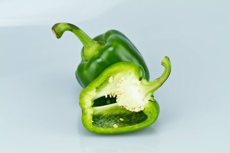 Green Capsicum bluish background III
