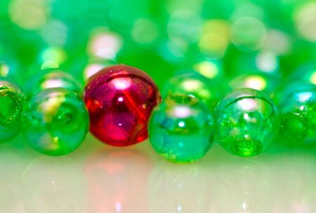One Different Beads Background