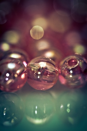 Retro Style Beads Background photo