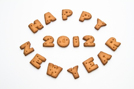 Happy New Year 2012 Biscuits