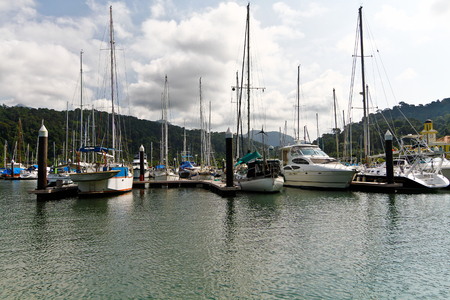 dinghies: sailing boat in marina