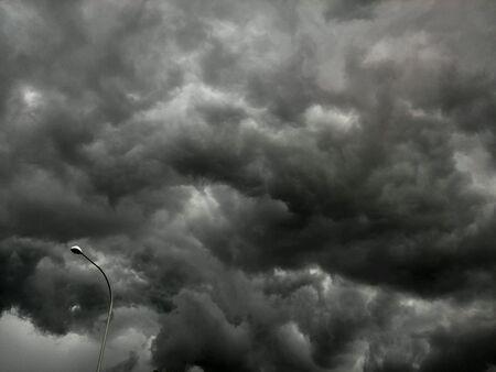 prior: Dark cloud forming prior to thunderstorm