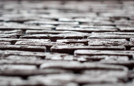 horizontal view of bricks on the wall Zdjęcie Seryjne