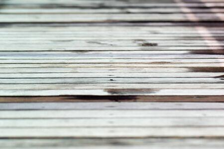 horizontal view of wooden deck Zdjęcie Seryjne