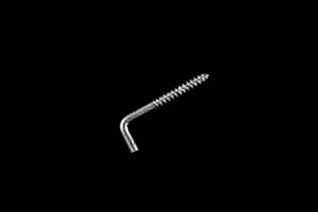 metal self-tapping screw on black isolated background Banco de Imagens - 131226753