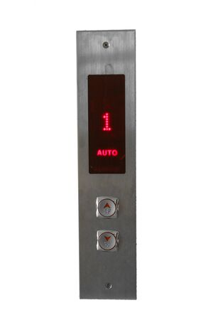 Elevator call buttons. on white isolated background