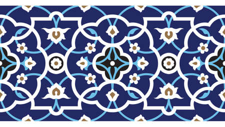 Traditional Arabic Border Stock Vector - 15555018