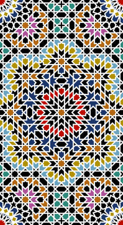 Almas Stroke Moorish Pattert Vector