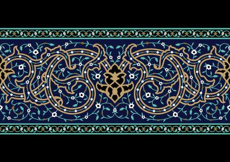 Traditional Arabic Border Stock Vector - 15555041