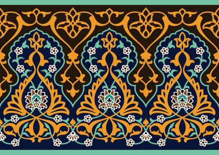 Traditional Arabic Border Stock Vector - 15555050