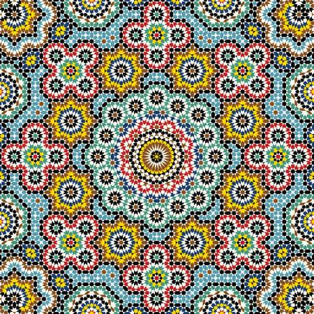 islamic pattern: Traditional Morocco Pattern Illustration