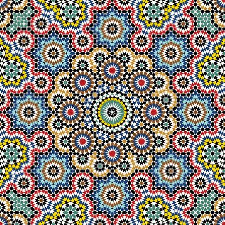 patron islamico: Patr�n tradicional Marruecos Vectores