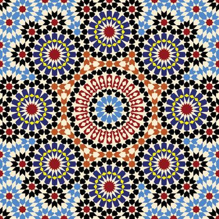ceramic: Patr�n tradicional Marruecos Vectores