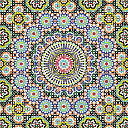mosaic pattern: Traditional Morocco Pattern Illustration