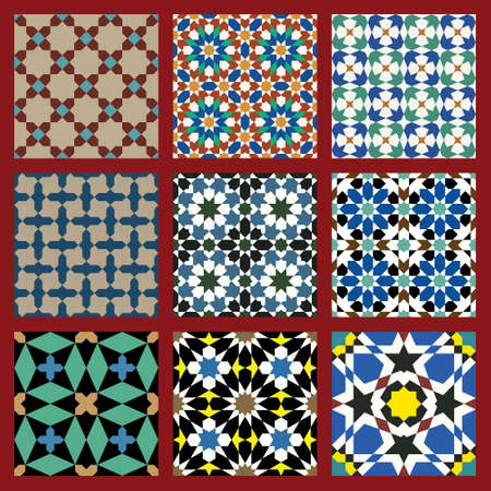Set of Traditional Morocco Patterns Stock Vector - 15565293