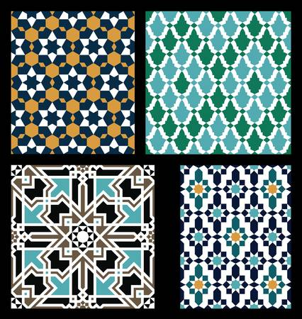 islamic pattern: Set of Traditional Morocco Patterns