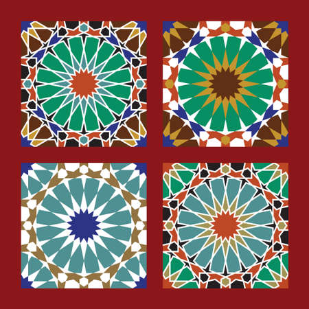 Set of Traditional Morocco Patterns Stock Vector - 15565395