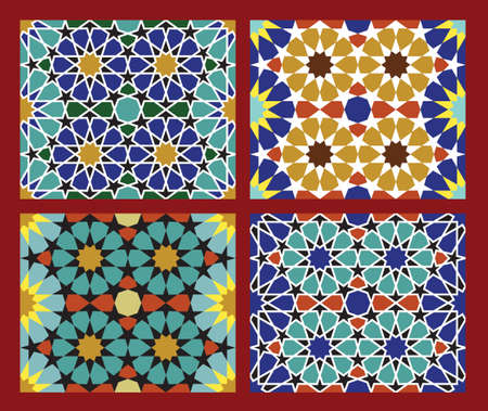Set of Traditional Morocco Patterns Stock Vector - 15565413