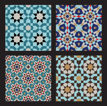 islamic art: Set of Traditional Morocco Patterns
