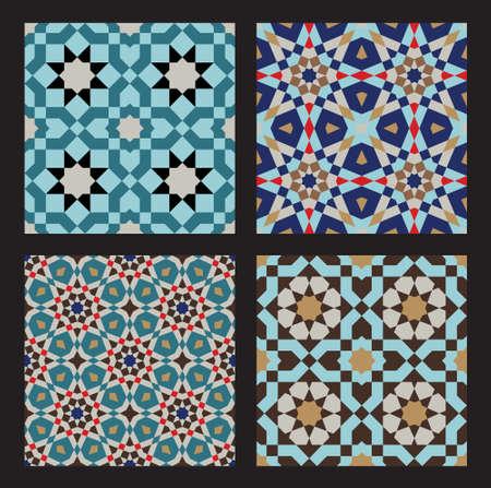 marokko: Set van traditionele Marokko Patronen