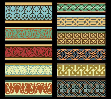 patron islamico: Conjunto de fronteras tradicionales �rabes