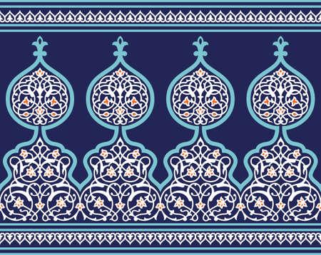 patron islamico: Frontera �rabe tradicional