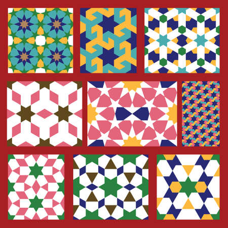 Set of Traditional Morocco Patterns Stock Vector - 15568402