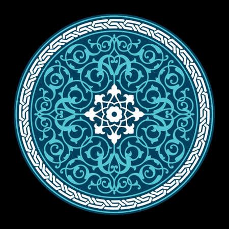 iran: Ahar Circle Floral Ornament