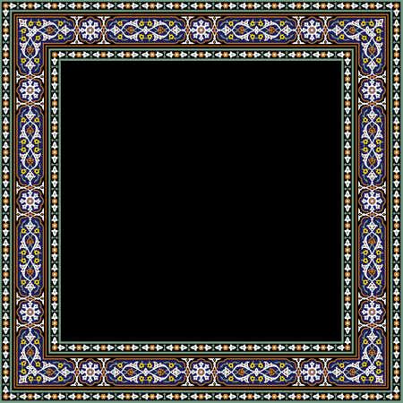 iran: Ahar Complex Floral Frame