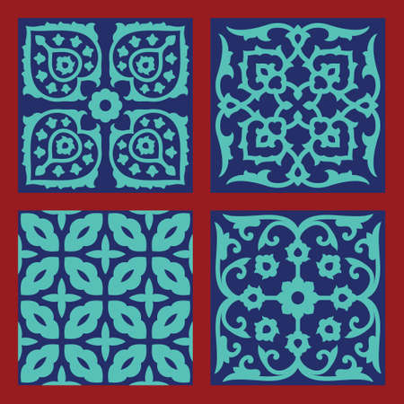 Ardakan Seamless Patterns Set Vector