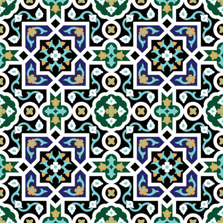tile pattern: Traditional Arabic Design Illustration