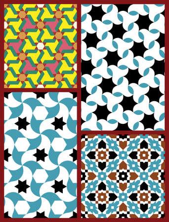 marocchini: Tradizionale stile moresco Vettoriali