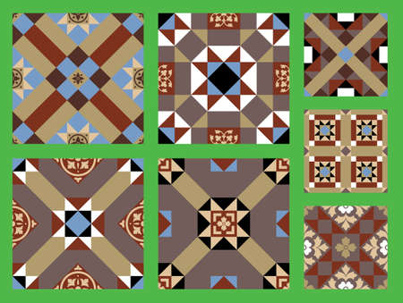 Victorian Design  Patterns Vector