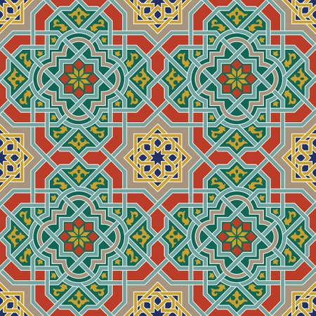 mosaic tile: Design arabo tradizionale Vettoriali