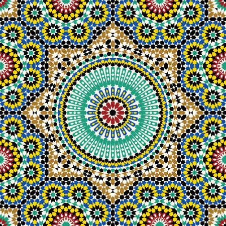 mosaic floor: Traditional Arabic Design Illustration