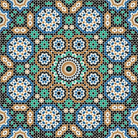 mosaic floor: Traditional Moorish Pattern Illustration