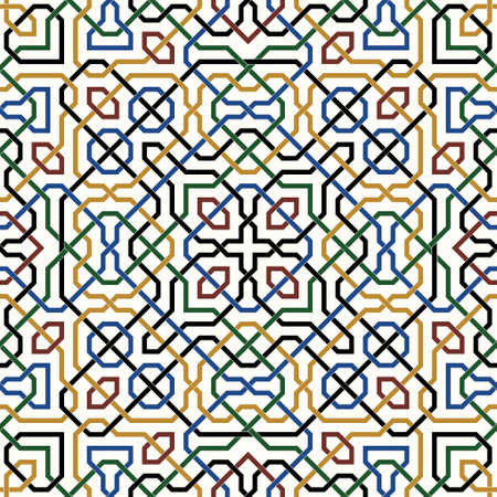ceramic: Traditional Moorish Pattern Illustration