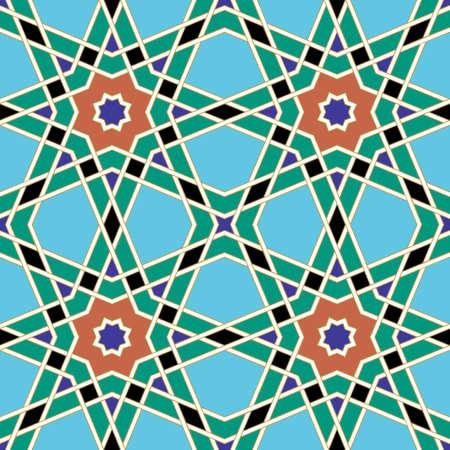 iran mosaic: Traditional Arabic Design Illustration