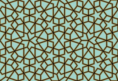 mosaic pattern: Traditional Arabic Design Illustration