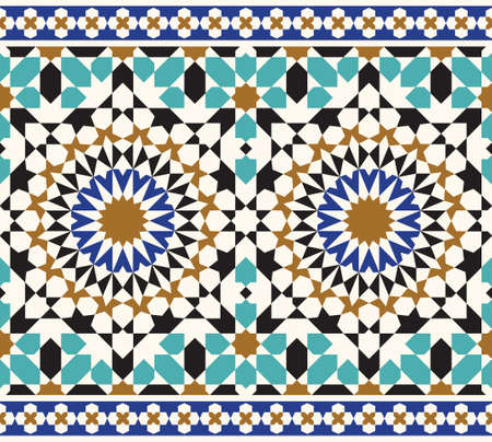 seamless tile: Traditional Arabic Design Illustration