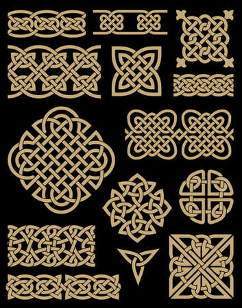 celtico: Celtico Design Elements Set Vettoriali
